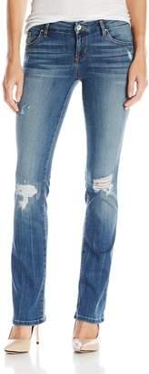 GUESS Women's Tailored Mini Bootcut Jean Inseam