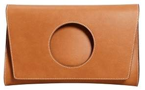 Violeta BY MANGO Circle flap clutch