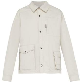 Lanvin Utility Pocket Cotton Jacket - Mens - White