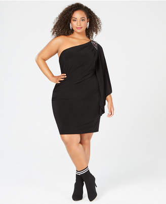 cd4c70a5deb Morgan   Company Plus Size One-Shouldered Dress