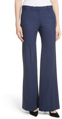Theory Demetria 2 Flare Leg Good Stretch Wool Suit Pants