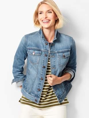 b9feda1684523 Women Plus Size Light Wash Denim Jacket - ShopStyle