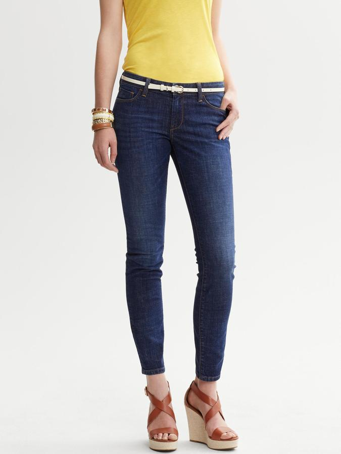 Banana Republic Dark Wash Skinny Ankle Jean