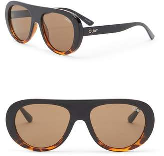 Quay Bold Move 56mm Aviator Sunglasses