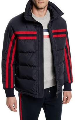 Moncler Men's Richard Striped Puffer Jacket