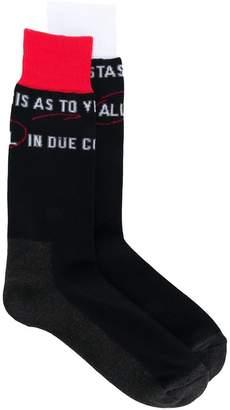 Sacai printed socks
