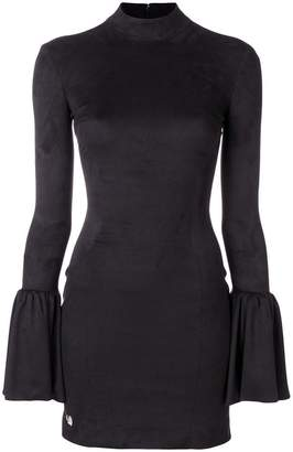 Philipp Plein fitted dress with flared sleeves