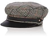Lola Hats Women's Corto Plaid Wool Chauffeur Cap - Gray