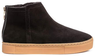 H&M Lined Suede Boots - Black