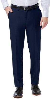 Haggar Mens Premium Comfort Flex-Waist Slim-Fit Stretch Flat-Front Dress Pants