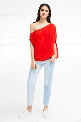 French Connection Tanna Jersey Asymmetric Top