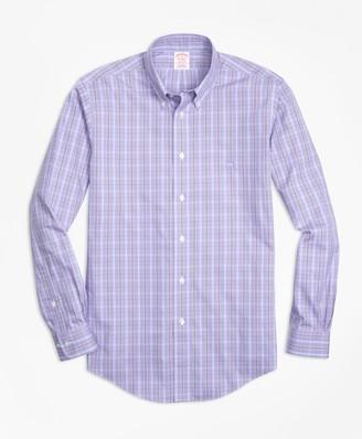 Brooks Brothers Non-Iron Madison Fit Three-Color Windowpane Check Sport Shirt