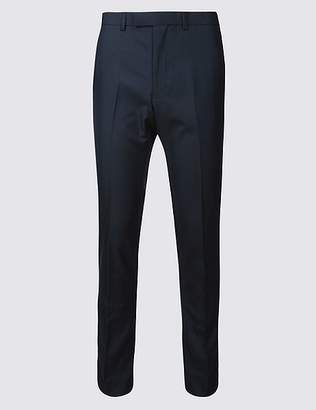 Marks and Spencer Navy Modern Slim Fit Trousers