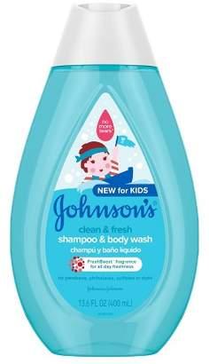 Johnson Johnson's Clean and Fresh Shampoo and Wash - 13.6 fl oz