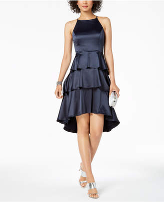 Nanette Lepore Nanette by Ruffle Tiered Satin Dress