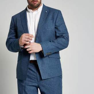River Island Mens Big and Tall blue suit jacket