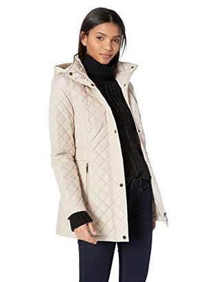 Calvin Klein Women's Classic Quilt Diamond Body Pattern and Hood