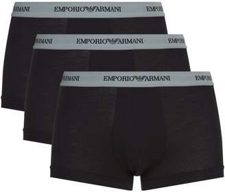 Giorgio Armani Stretch Cotton Trunks (Pack of 3)
