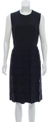 Fendi Textured Sheath Dress