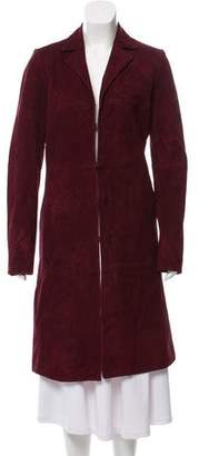 Alice + Olivia Suede Long Coat