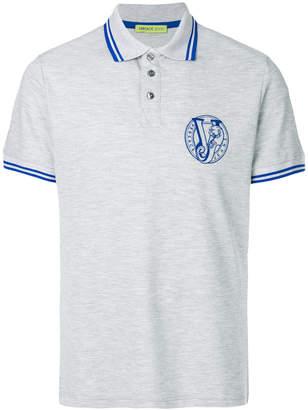 Versace embroidered logo polo shirt