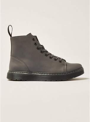Topman Mens DR MARTENS Grey Talib 8 Eye Boots