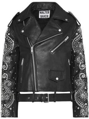 Walter W118 By Baker Chi Crystal-embellished Leather Biker Jacket