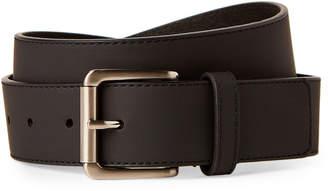 Calvin Klein Jeans Black Leather Roller Buckle Belt