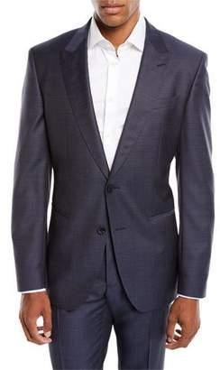 BOSS Men's Solid Peak-Lapel Two-Piece Wool/Silk Suit