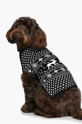 boohoo Fairisle Christmas Dog Jumper