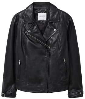 Violeta BY MANGO Leather biker jacket
