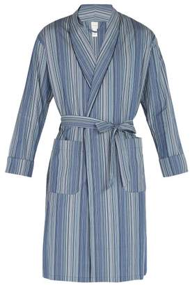 Paul Smith Striped Cotton Robe - Mens - Blue