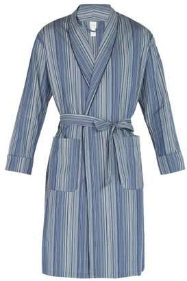Paul Smith Striped Cotton Robe - Mens - Blue