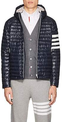 Thom Browne Men's Block-Striped Down Puffer Jacket - Navy