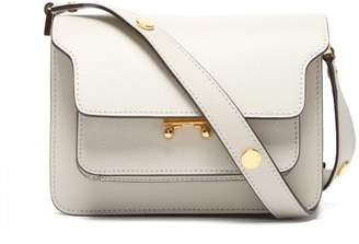 Marni Trunk Mini Leather Cross Body Bag - Womens - White