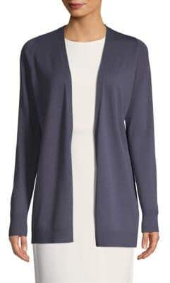Lafayette 148 New York Classic Open-Front Cardigan