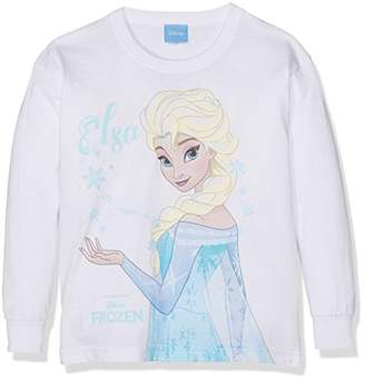 Disney Girl's Frozen-Elsa Magic-Kids LS Lrg T-Shirts