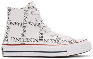 J.W.Anderson White Converse Edition Grid Logo Chuck 70 Hi Sneakers