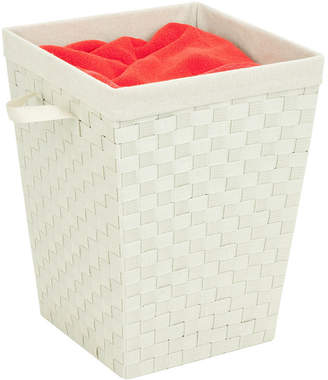 Honey-Can-Do Woven Hamper with Liner, Creme