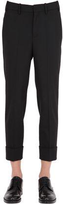 Skinny Stretch Wool Gabardine Pants $606 thestylecure.com