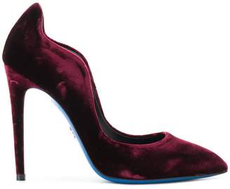 Loriblu velvet stiletto pumps