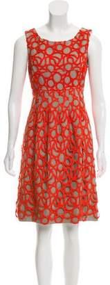 Lela Rose Linen Sheath Dress