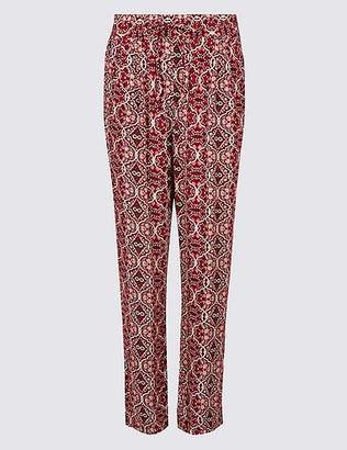 Marks and Spencer Floral Print Tapered Leg Peg Trousers