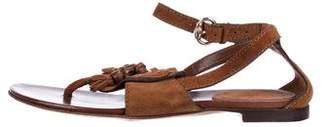 Gucci Suede Tassel Sandals
