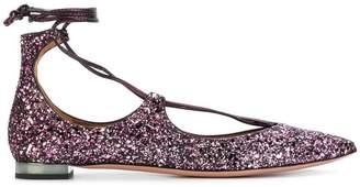 Aquazzura Christie glitter ballerinas