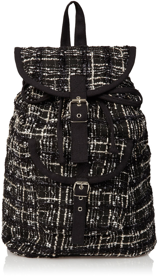 Topshop Textured Boucle Backpack