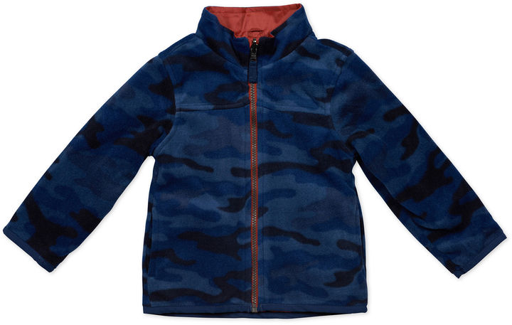 Carter's CARTERS Carter's Navy Long-Sleeve Hooded Coat - Toddler Boys