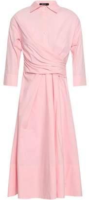 Raoul Pleated Striped Cotton-poplin Midi Shirt Dress