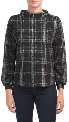 Made In Usa Window Pane Pullover Top
