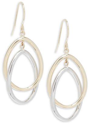 Saks Fifth Avenue Gold Oval Drop Earrings